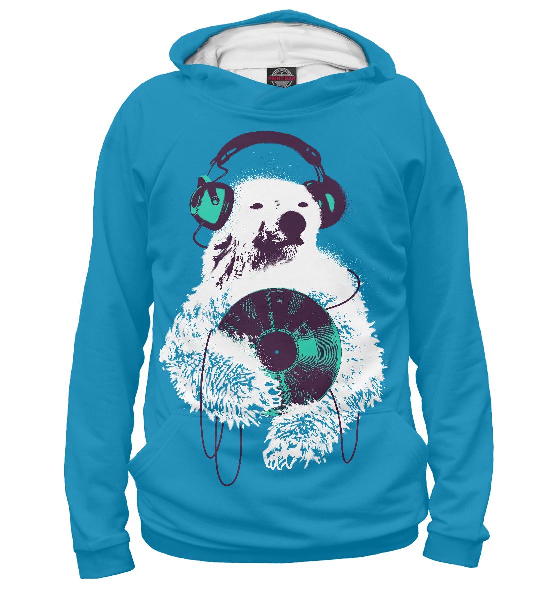 Купить Медведь в наушниках, Printbar, Худи, MED-710175-hud-2