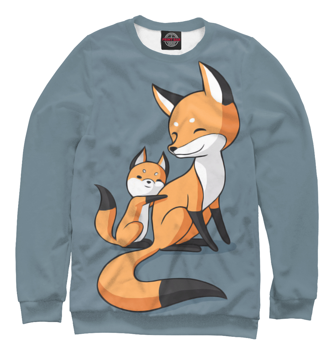 Купить Лисица с лисёнком, Printbar, Свитшоты, FOX-299594-swi-1