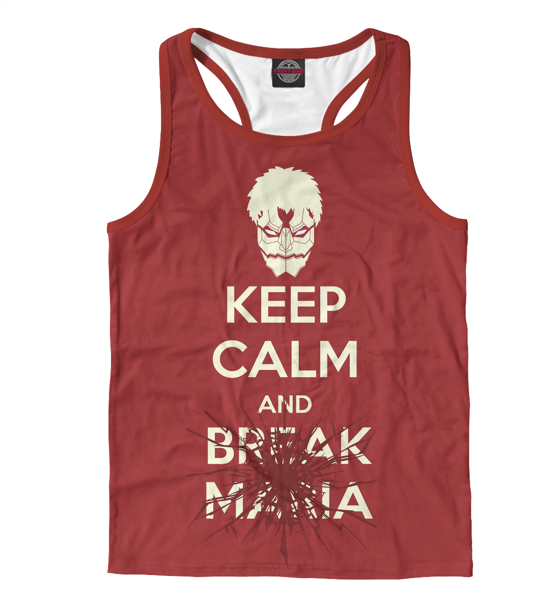 Купить Keep Calm And Break Maria, Printbar, Майки борцовки, AOT-433411-mayb-2