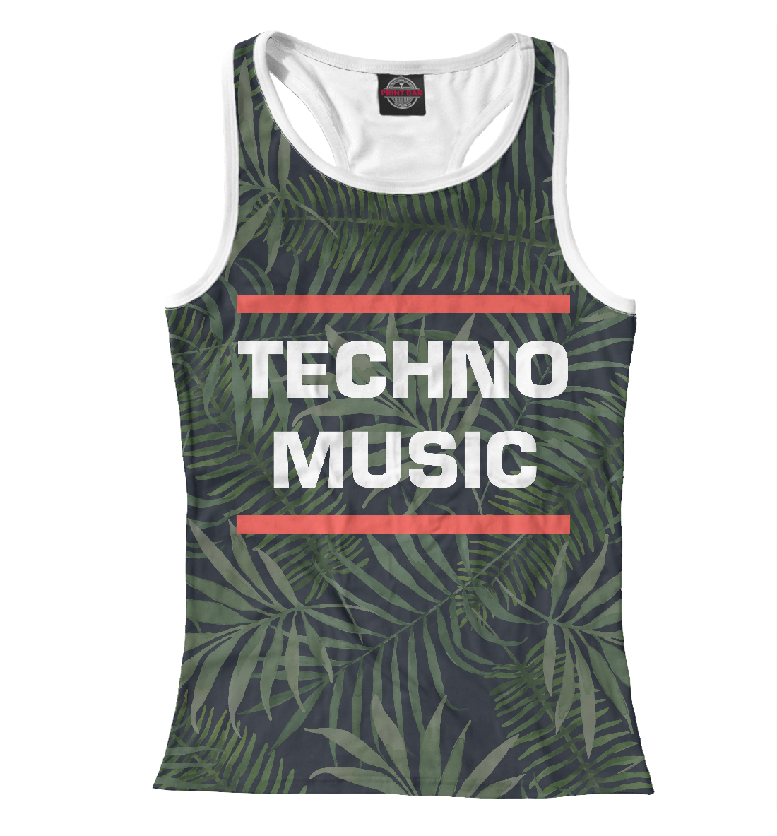 Купить Techno music, Printbar, Майки борцовки, DJS-313981-mayb-1