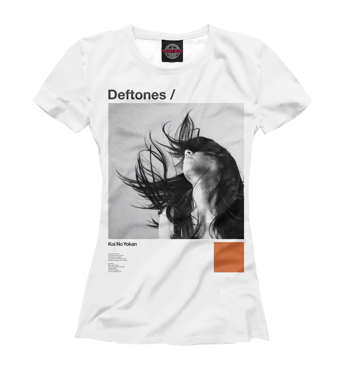 Купить Deftones, Printbar, Футболки, MZK-552681-fut-1