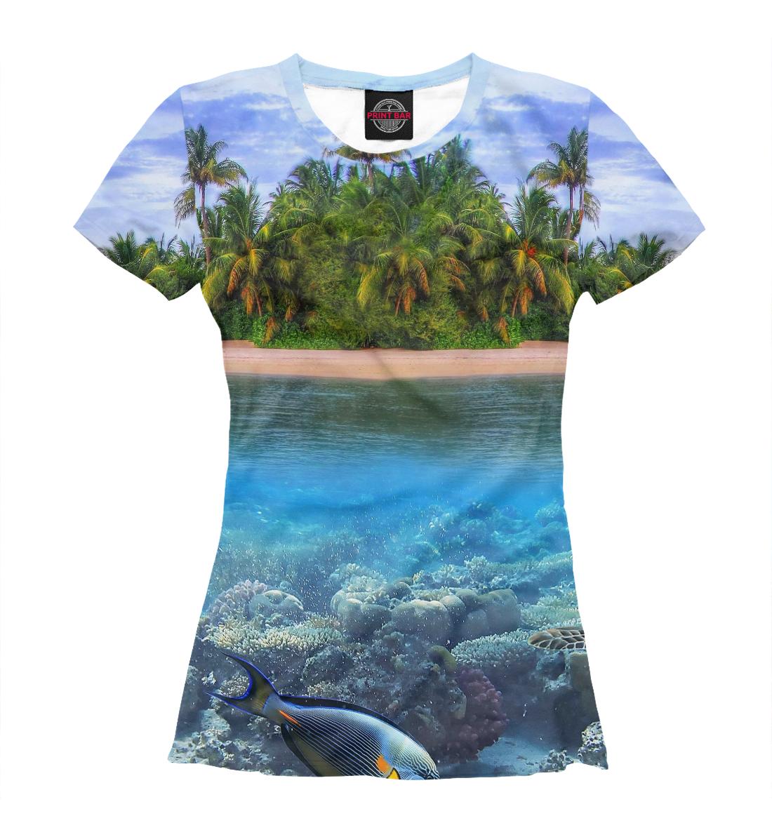 Тропический остров, Printbar, Футболки, PEY-401053-fut-1  - купить со скидкой
