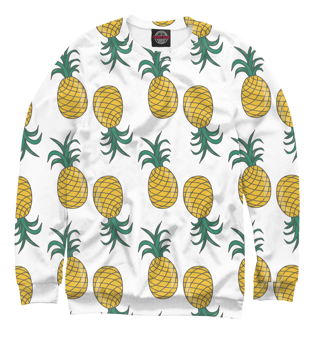Купить Double pineapple on white, Printbar, Свитшоты, EDA-996874-swi-1