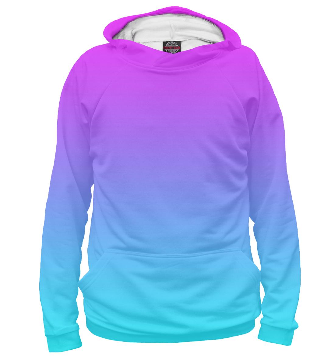 Купить Градиент: Розовый в Голубой, Printbar, Худи, CLR-401097-hud-2