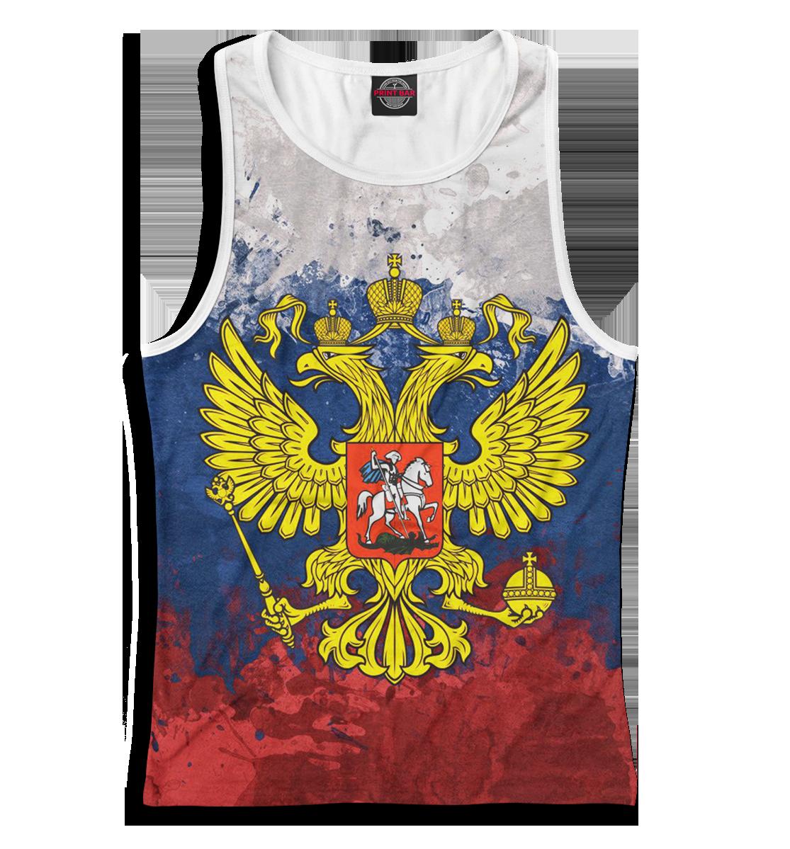 Купить Триколор и герб, Printbar, Майки борцовки, SRF-758353-mayb-1