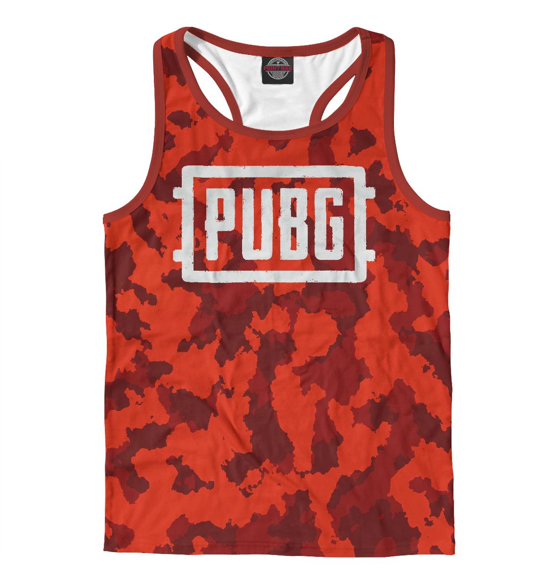 PUBG Red Abstract, Printbar, Майки борцовки, PBG-299713-mayb-2  - купить со скидкой