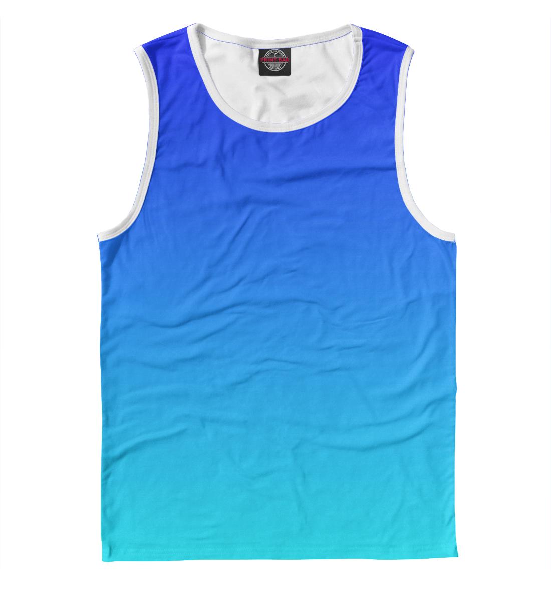 Купить Градиент: Синий в Голубой, Printbar, Майки, CLR-742572-may-2