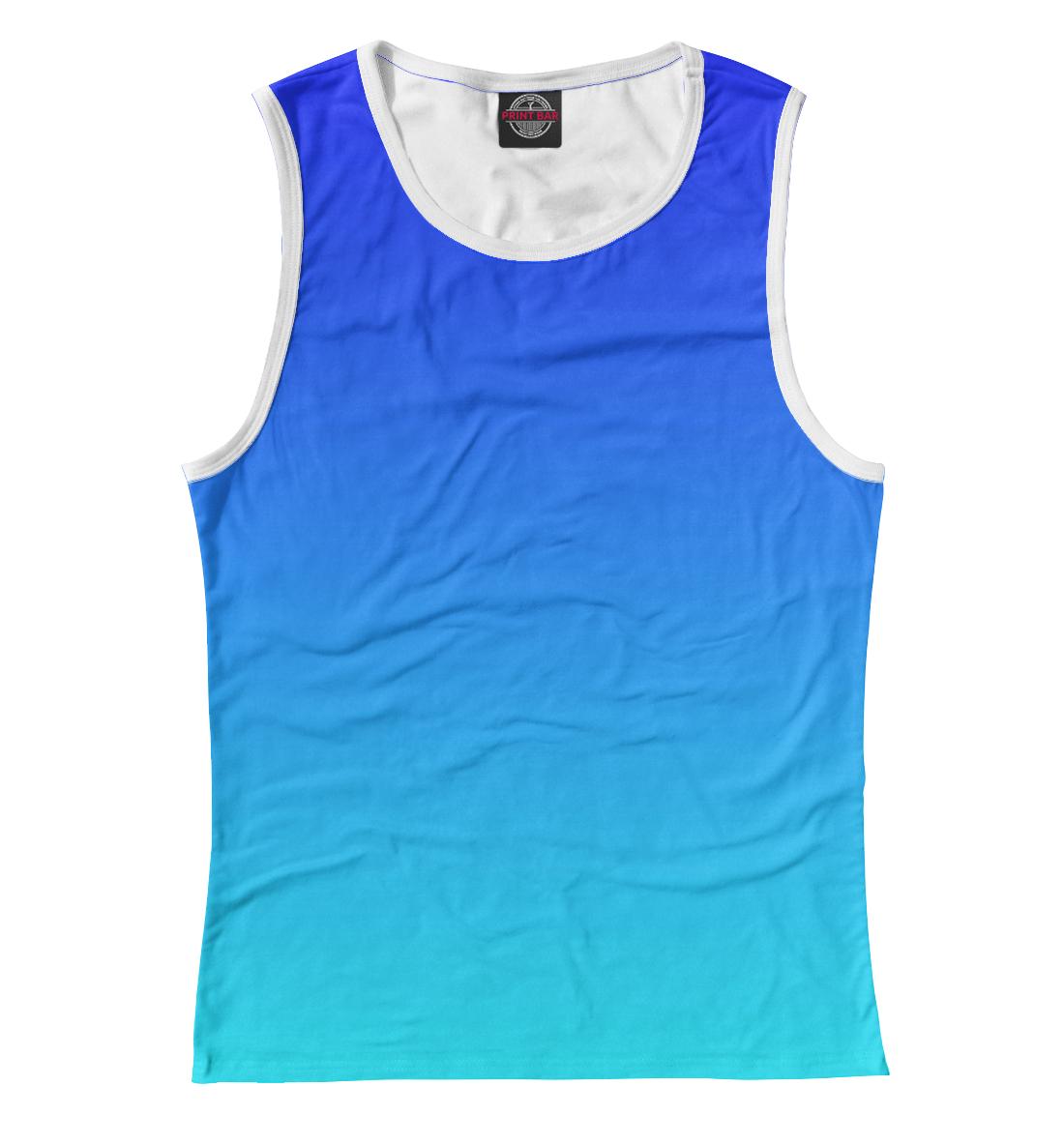 Купить Градиент: Синий в Голубой, Printbar, Майки, CLR-742572-may-1