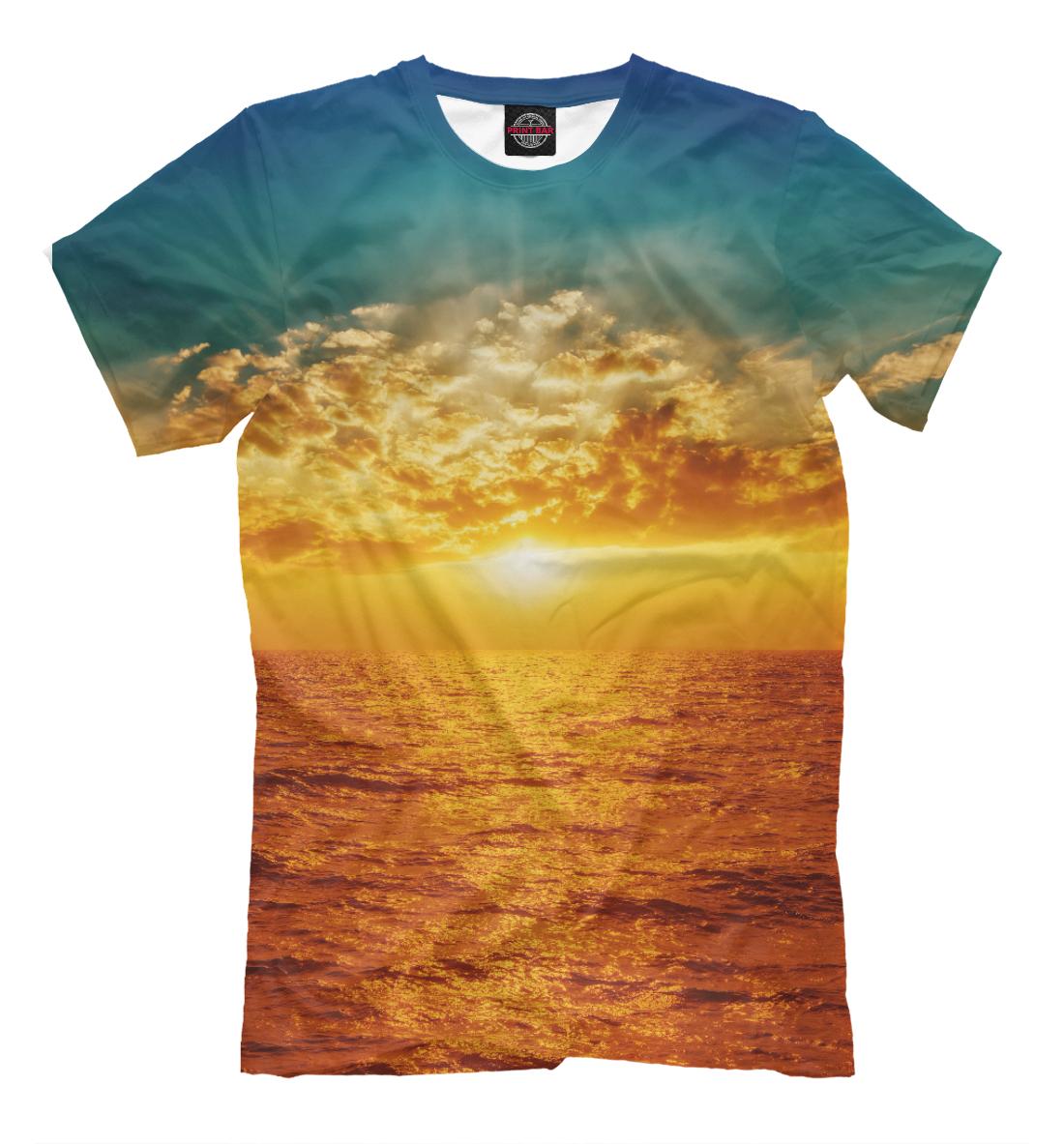 Купить Прекрасный морской закат, Printbar, Футболки, MST-807617-fut-2