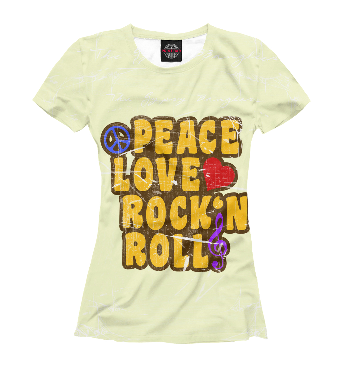 Купить Peace, Love, Rock*n roll, Printbar, Футболки, APD-127416-fut-1