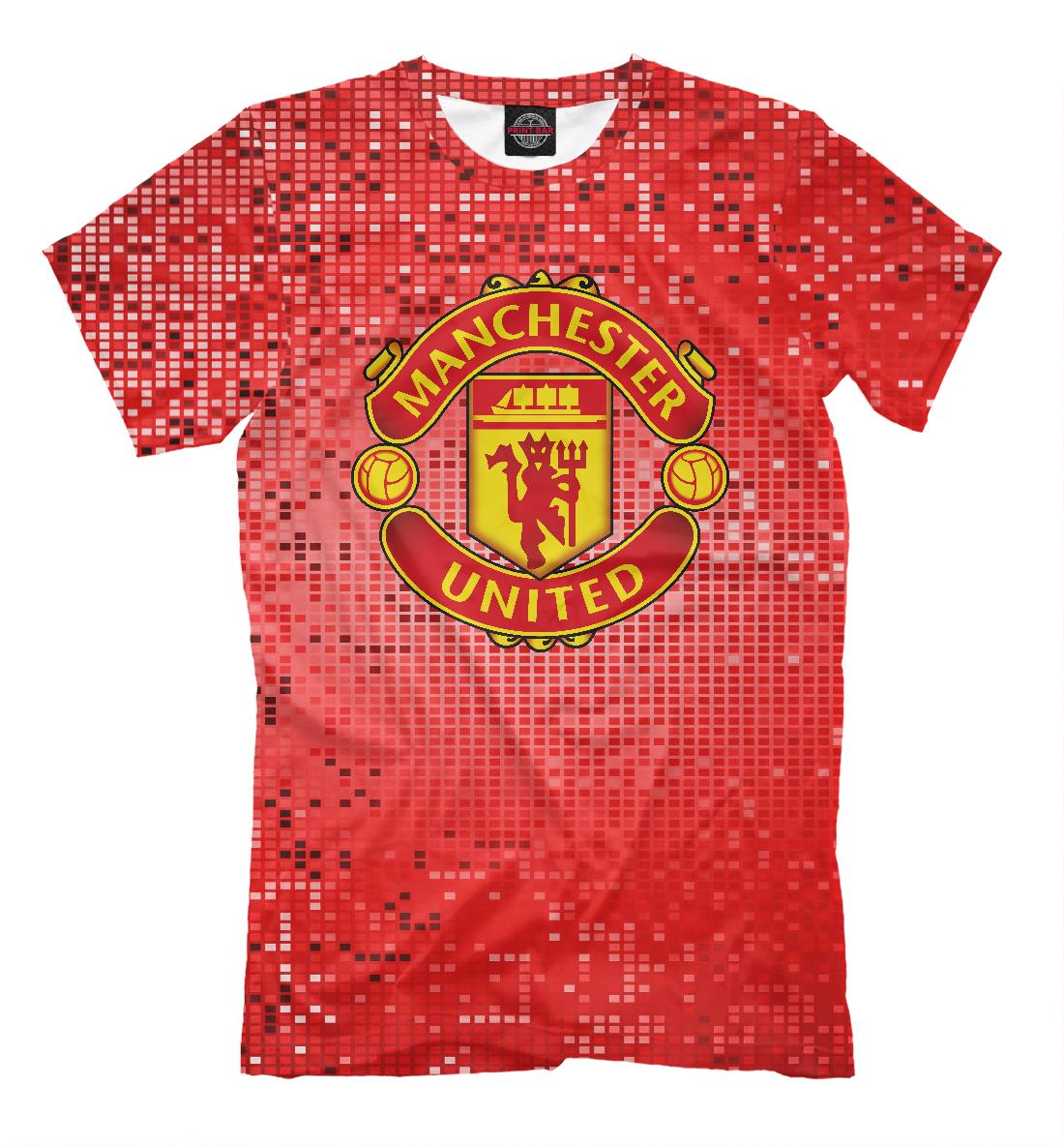 Купить Manchester United Abstract Pixels, Printbar, Футболки, MAN-845551-fut-2