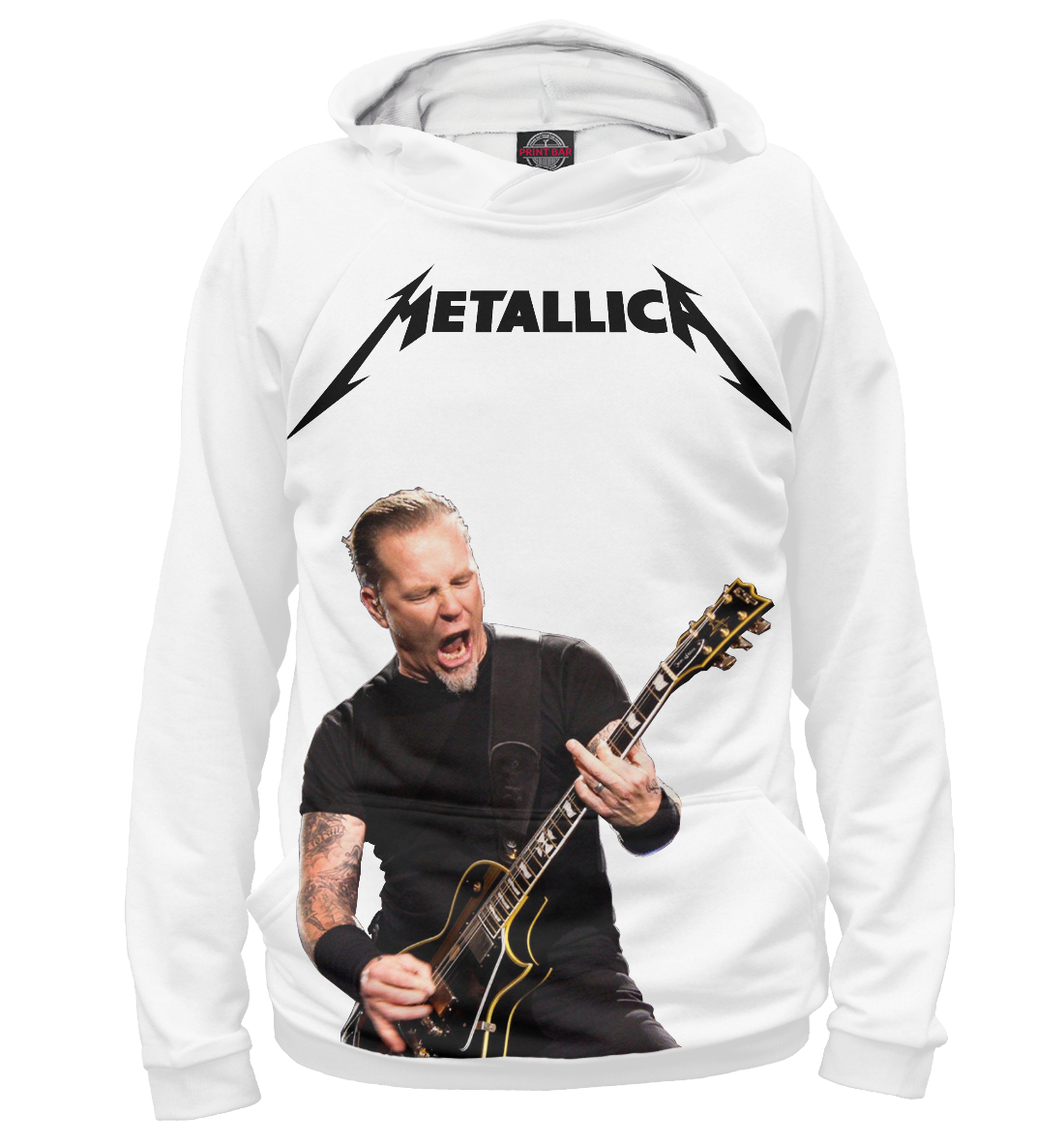 Купить Metallica James Hetfield, Printbar, Худи, MET-780404-hud-2