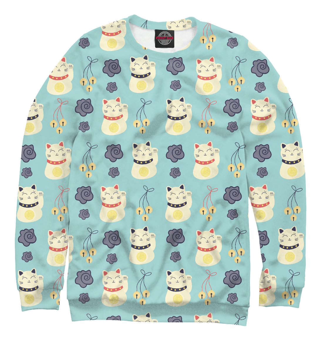 Купить Японские кошки счастья, Printbar, Свитшоты, APD-950319-swi-1