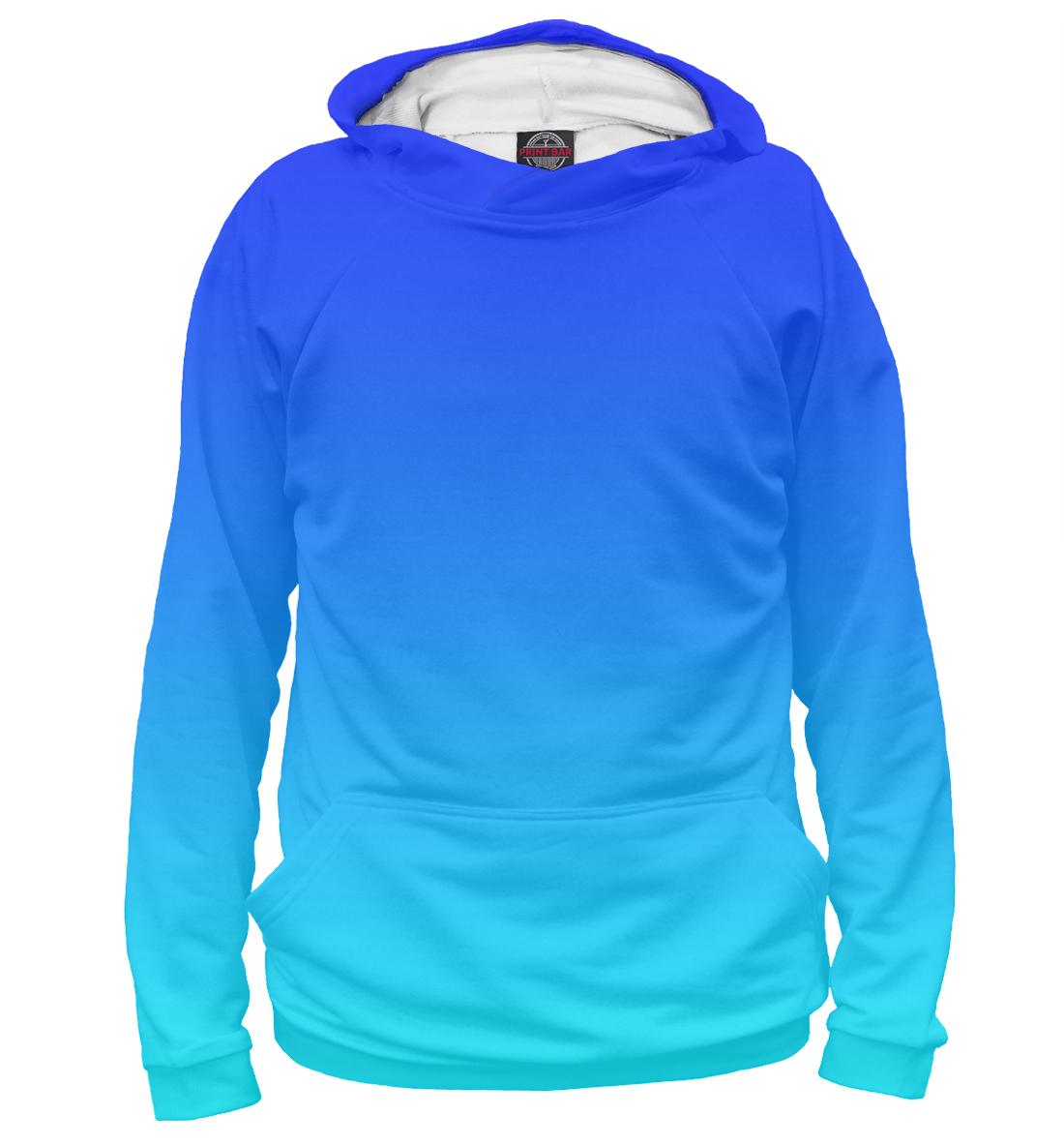 Купить Градиент: Синий в Голубой, Printbar, Худи, CLR-742572-hud-1