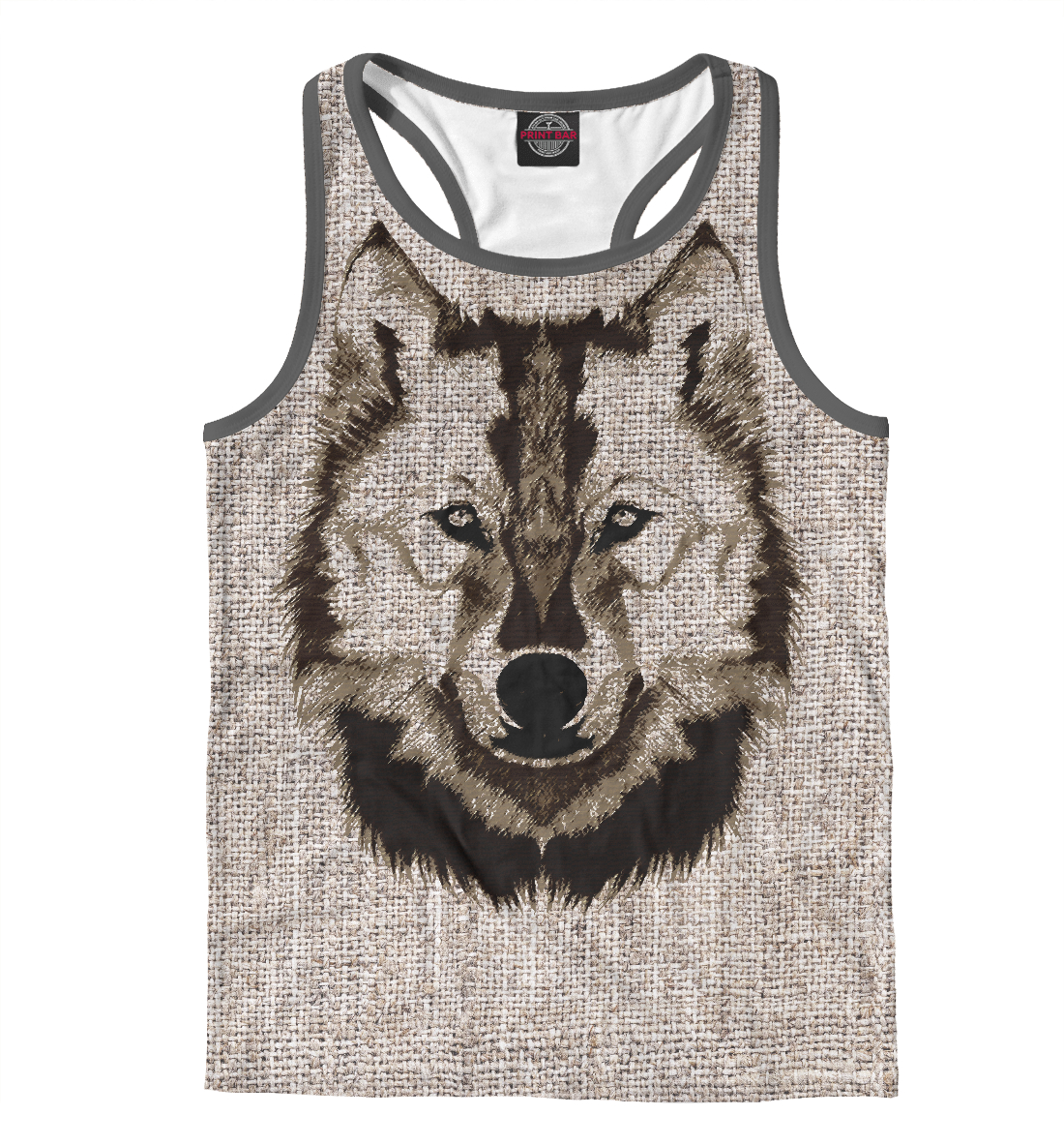 Купить Wolf Drawing, Printbar, Майки борцовки, VLF-967904-mayb-2