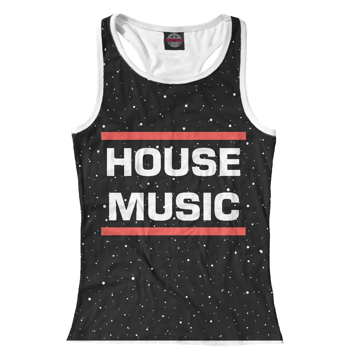 Купить House music, Printbar, Майки борцовки, DJS-557067-mayb-1