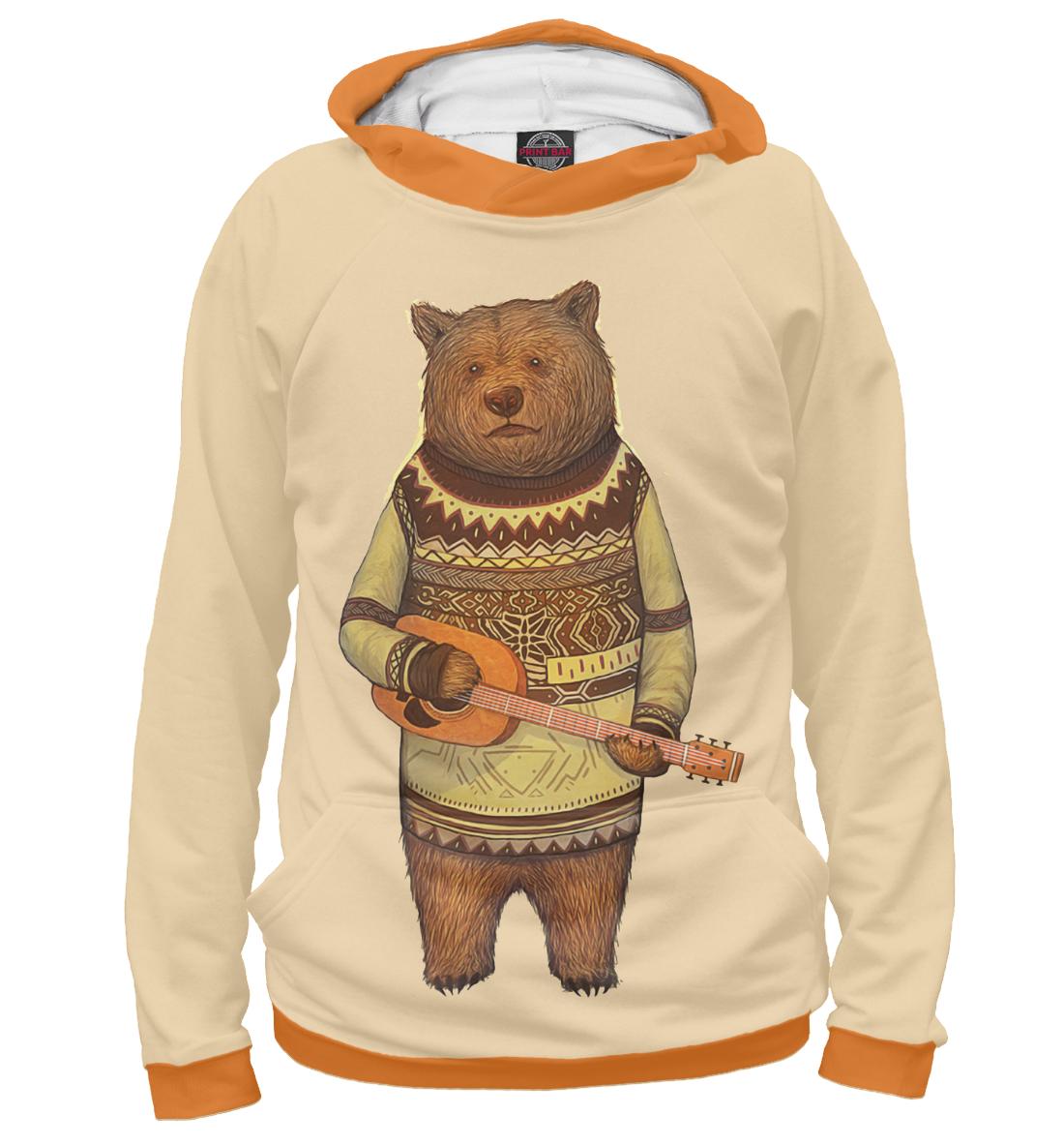 Купить Музыкальный медведь, Printbar, Худи, MED-386692-hud-2