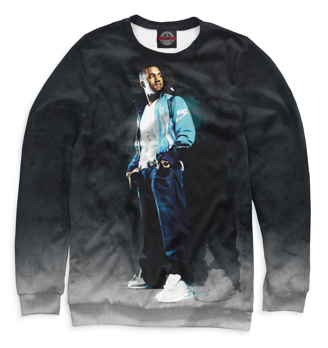 Купить Kanye West, Printbar, Свитшоты, KAW-290718-swi-1