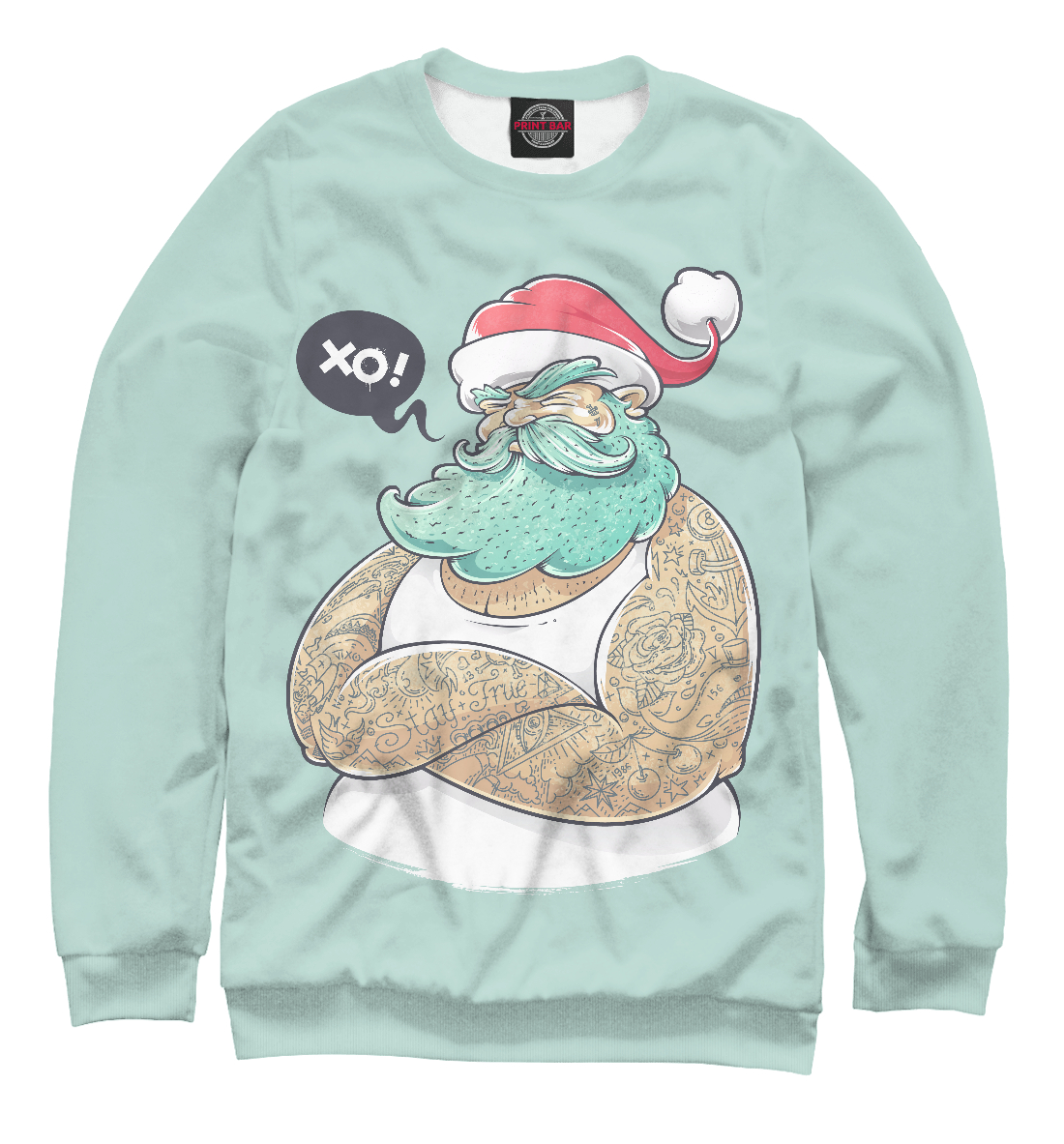 Купить Santa Hipster, Printbar, Свитшоты, NOV-365744-swi-2