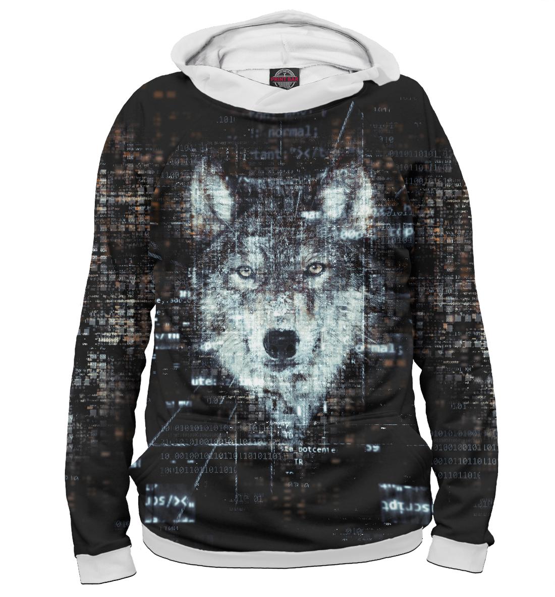 Купить Lonely Virtual Wolf, Printbar, Худи, VLF-301586-hud-2
