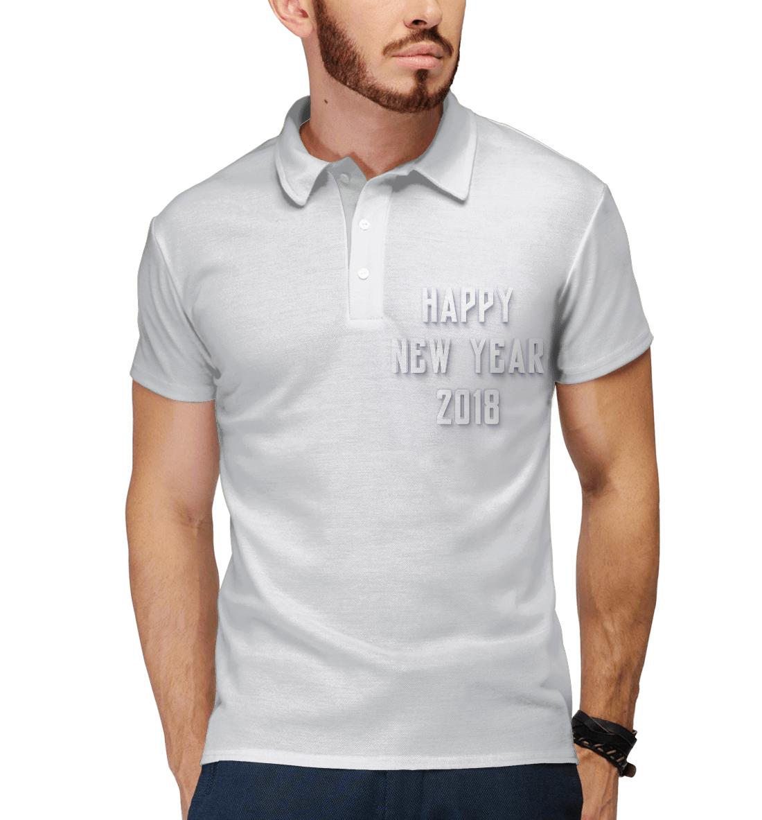 Купить Новый Год 2018, Printbar, Поло, NOV-855410-pol-2