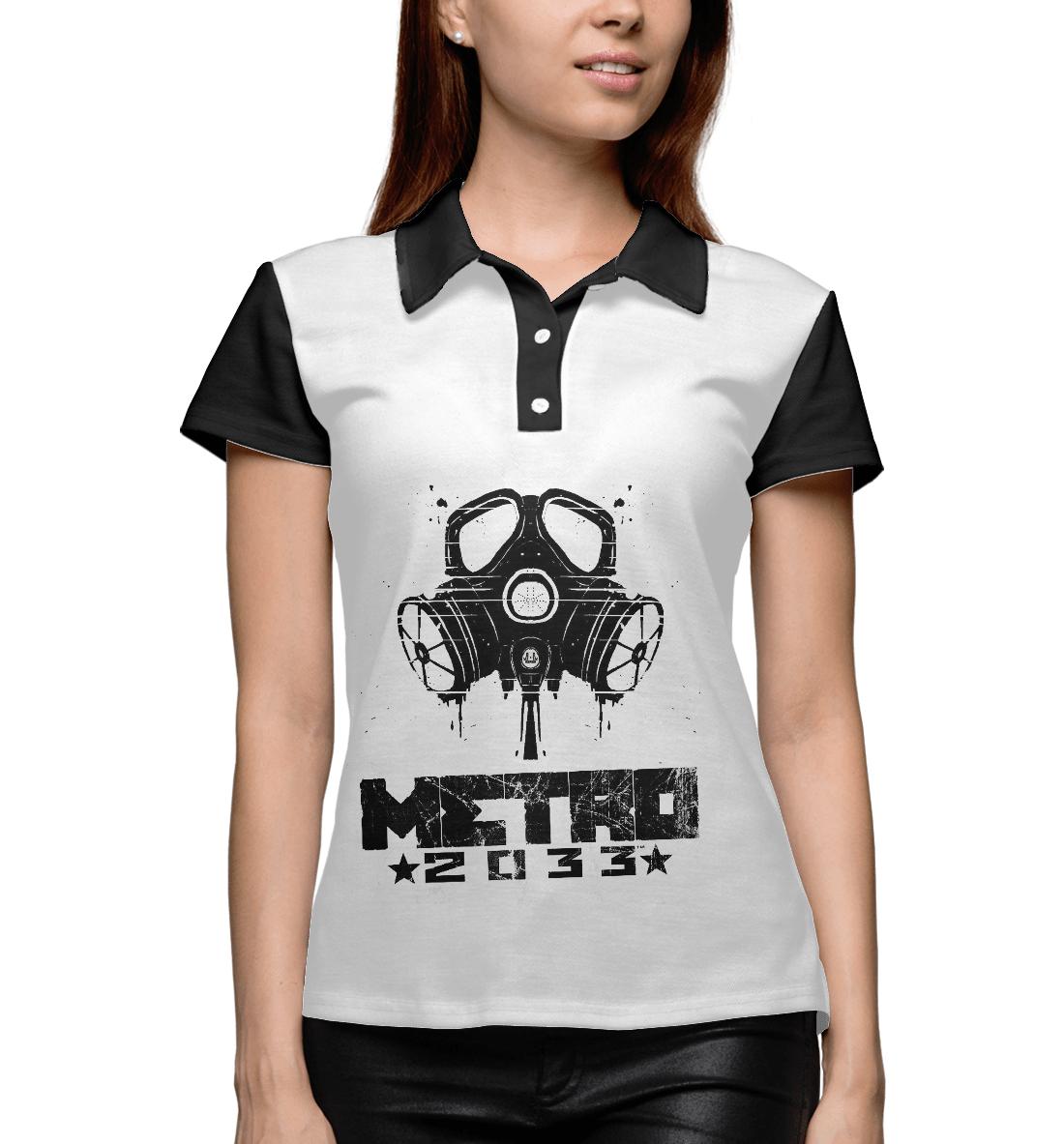 Купить Metro 2033 black l, Printbar, Поло, RPG-106718-pol-1
