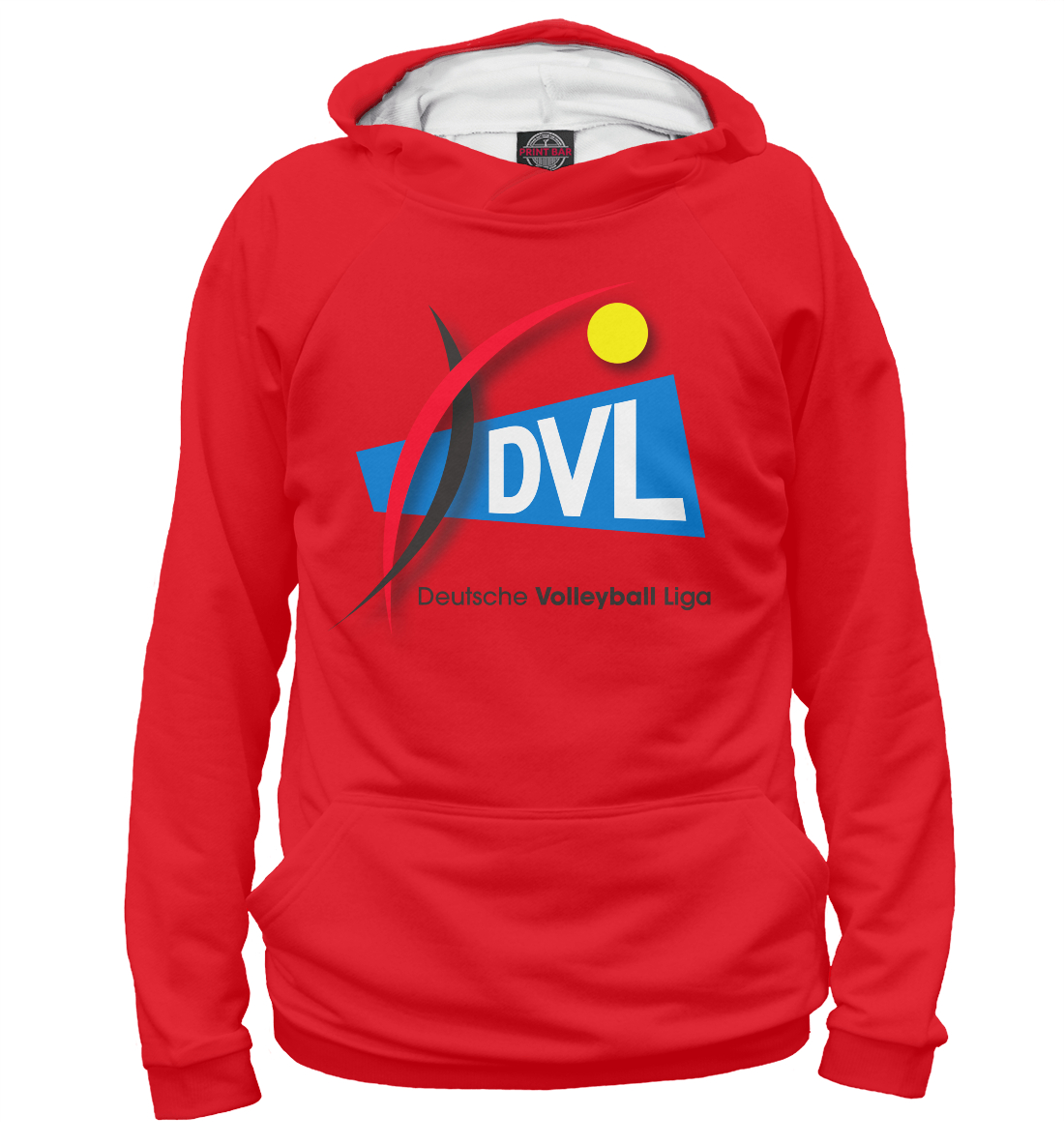 Купить DVL (Deutsche volleyball Liga), Printbar, Худи, VLB-396096-hud-2