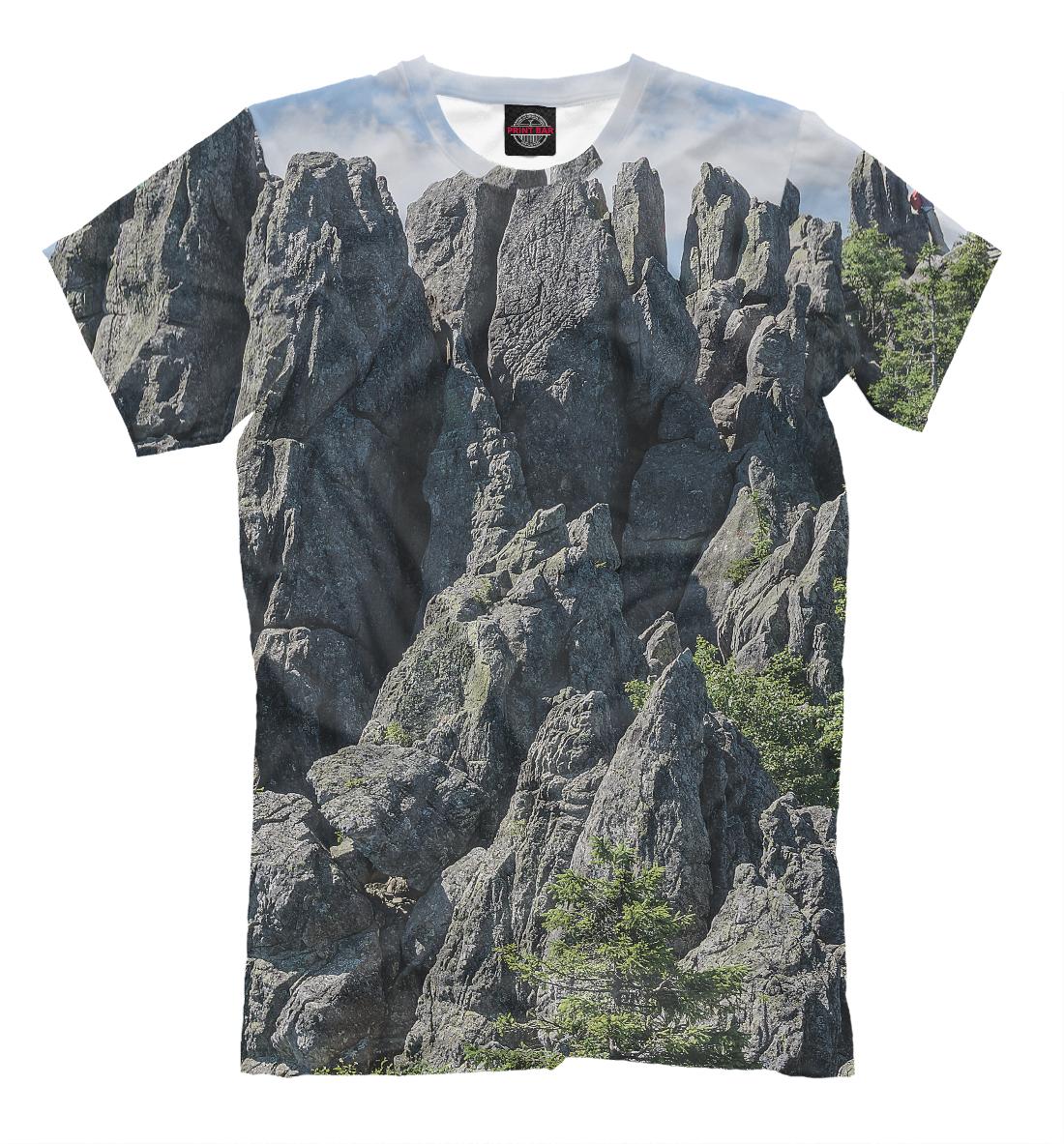 Купить Горный пейзаж парка Таганай, Printbar, Футболки, VSY-138797-fut-2