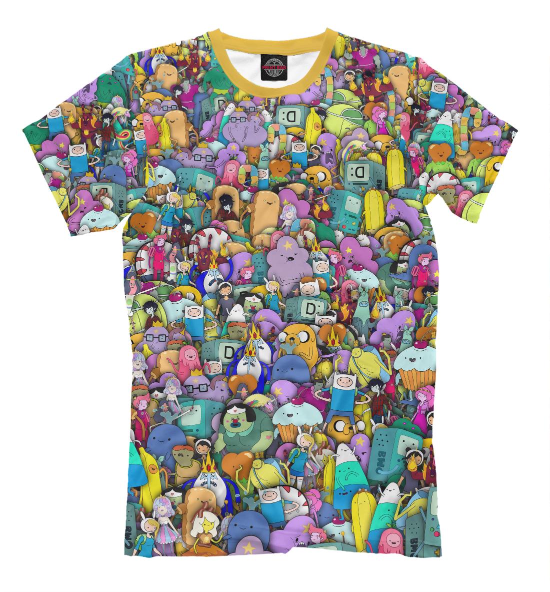 Купить Adventure Time. Стикербомбинг, Printbar, Футболки, ADV-750144-fut-2