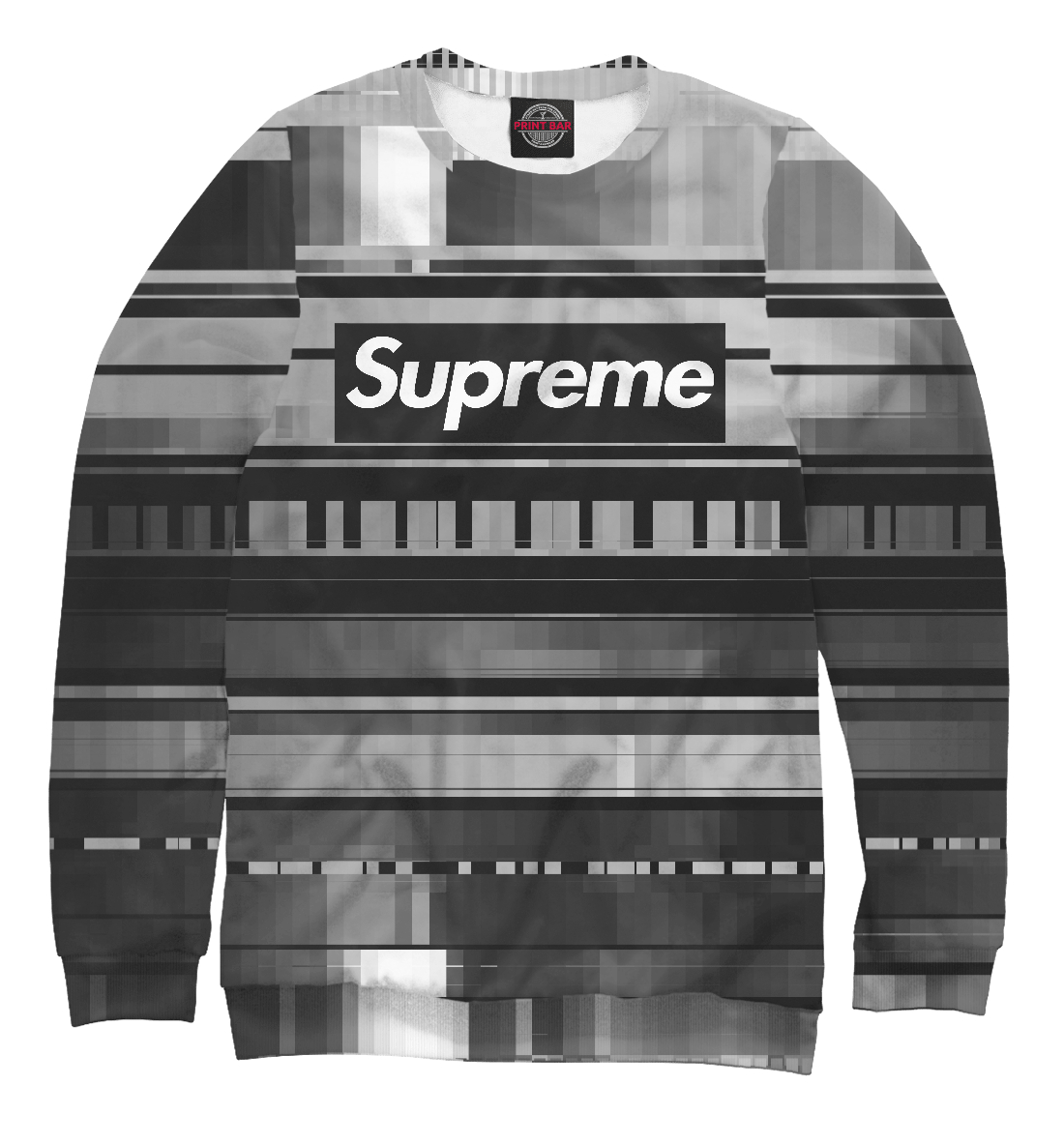 Купить Supreme Abstract Black&White, Printbar, Свитшоты, SPR-836407-swi-2
