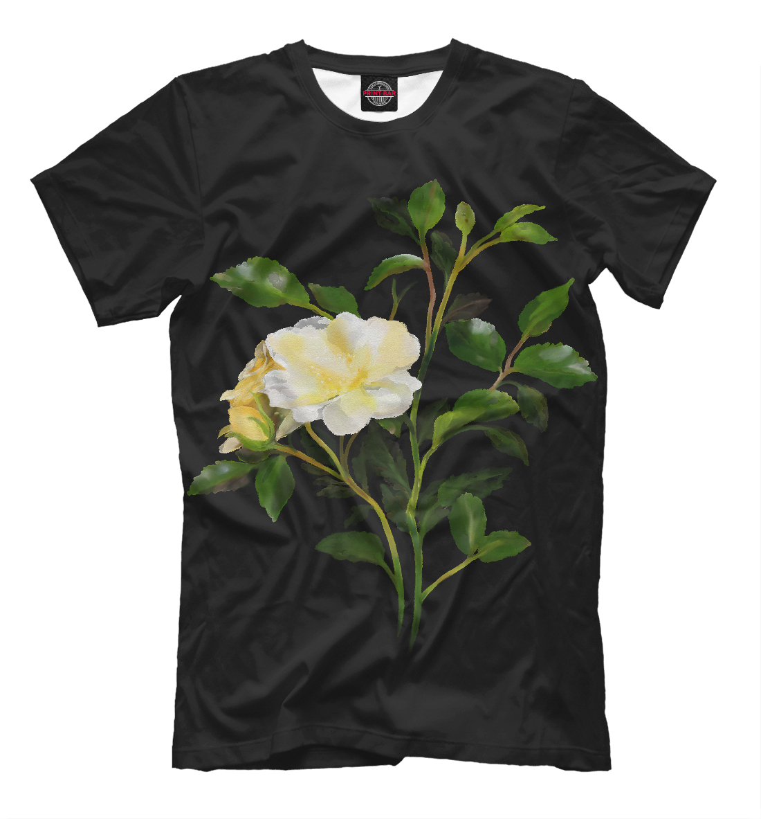 Купить Yellow Watercolor Rose, Printbar, Футболки, CVE-564352-fut-2