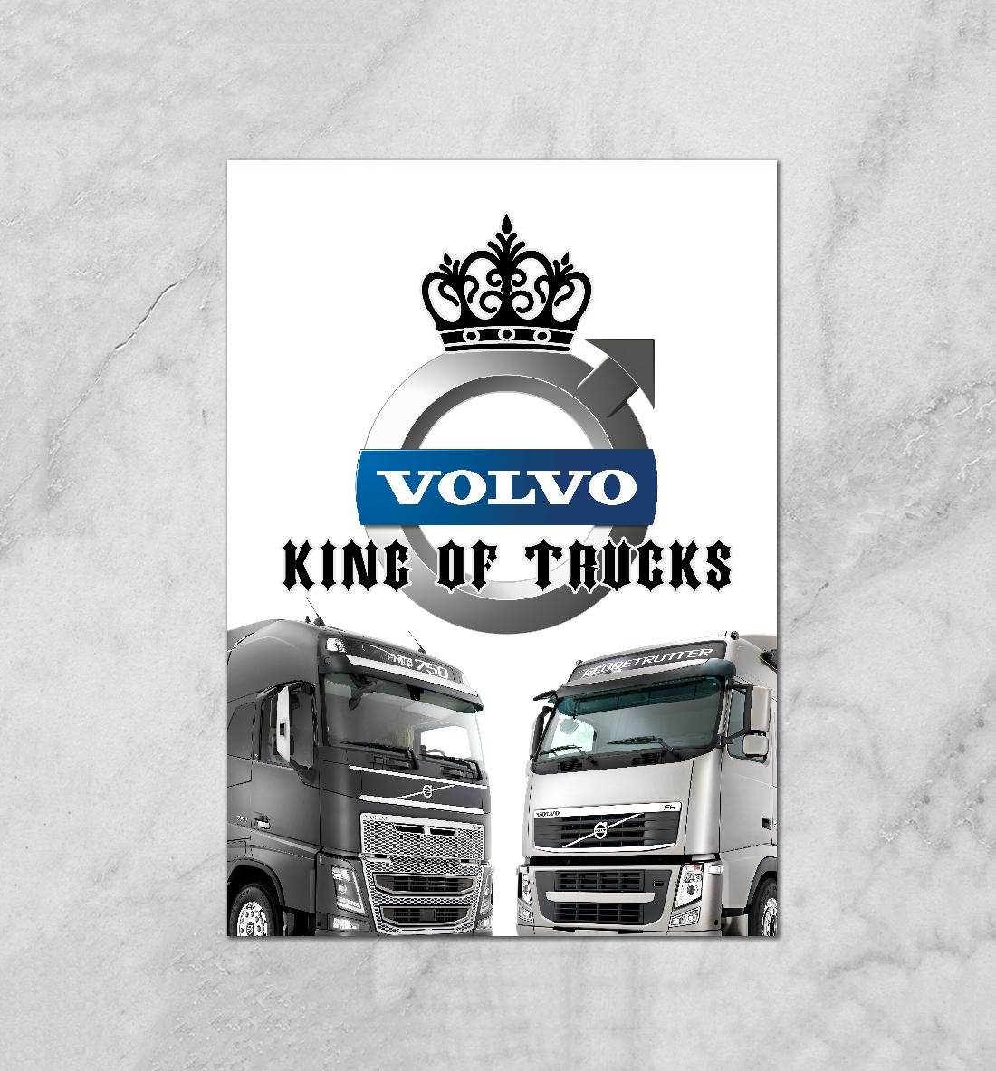 Купить VOLVO - король грузовиков, Printbar, Плакаты, GRZ-894611-plk