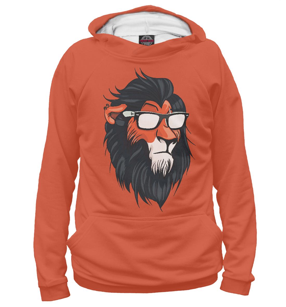 Купить Hipster Lion, Printbar, Худи, HIP-456149-hud-2