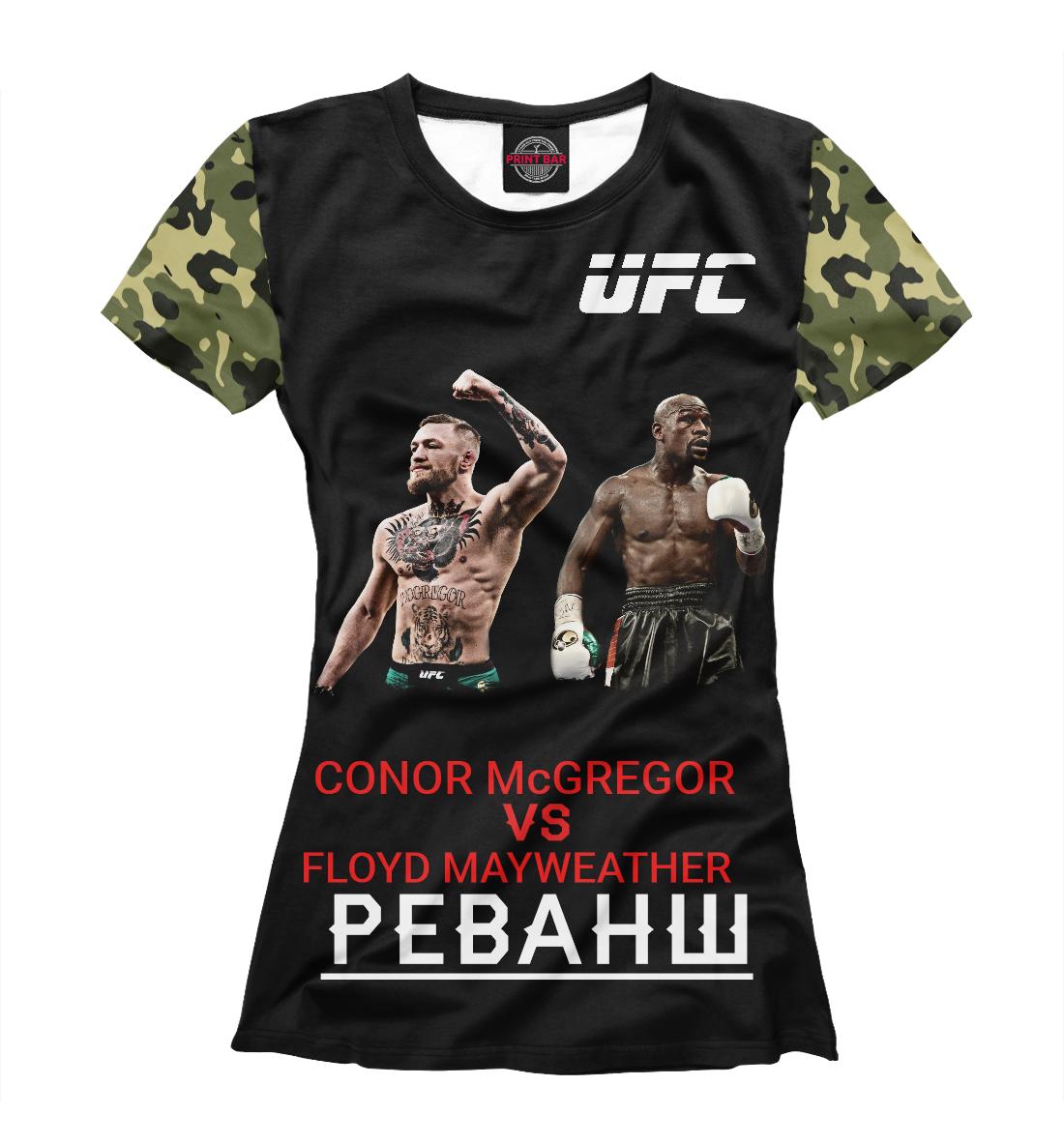 Купить Conor McGregor VS Floyd Mayweather | UFC, Printbar, Футболки, MNU-601576-fut-1