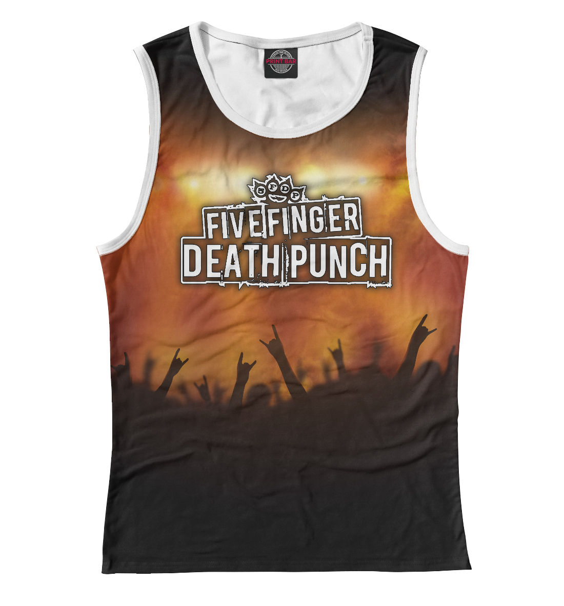 Купить Five Finger Death Punch, Printbar, Майки, FFD-445620-may-1