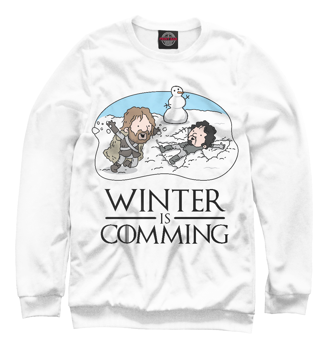 Купить Winter is comming, Printbar, Свитшоты, IGR-404632-swi-1
