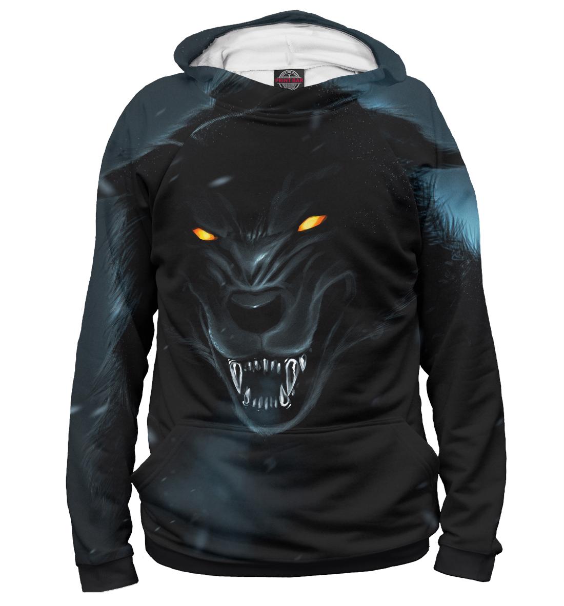 Купить Черный волк, Printbar, Худи, VLF-309016-hud-1