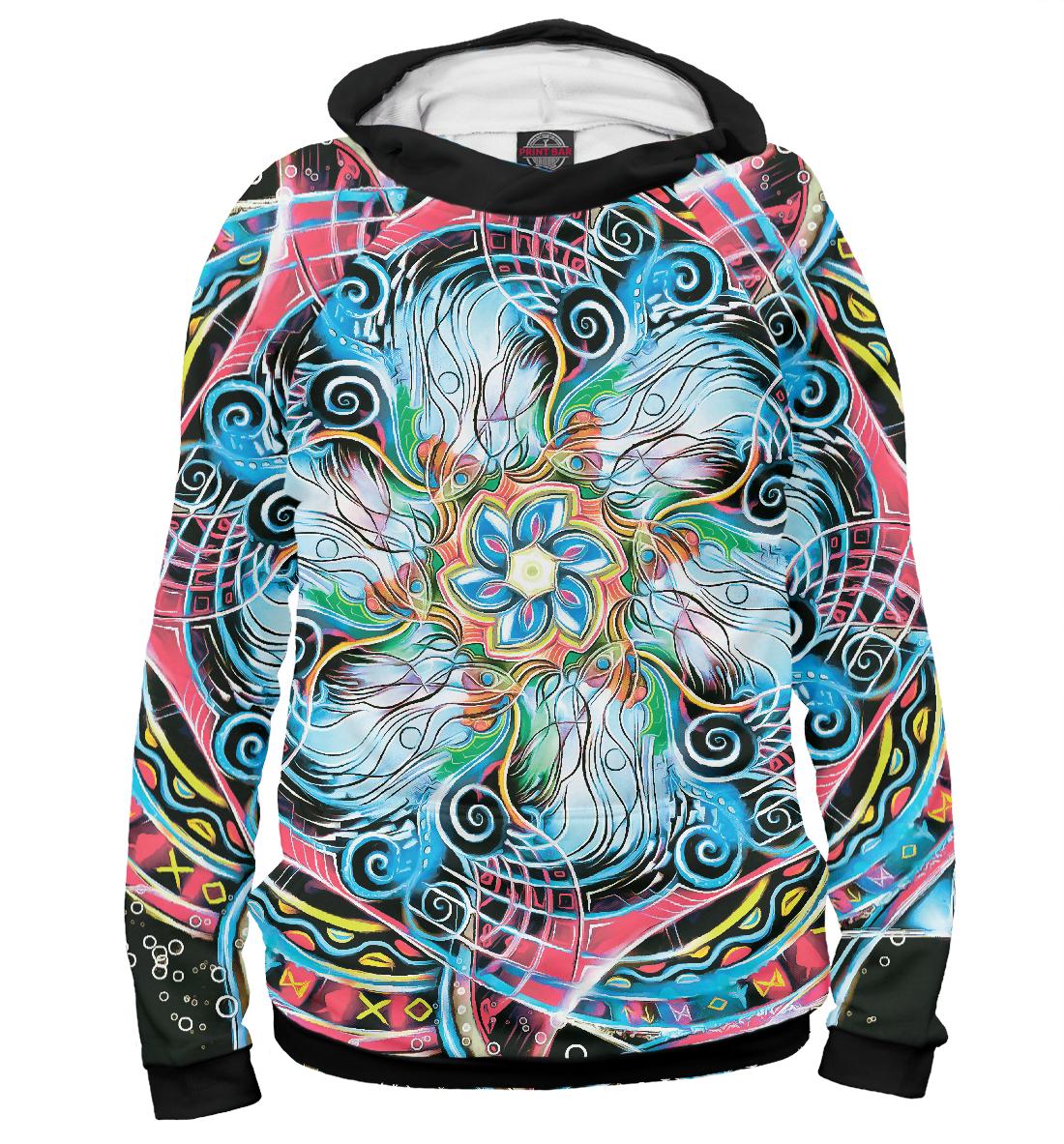 Купить Мандала Странные Цветные Руны, Printbar, Худи, APD-506067-hud-1