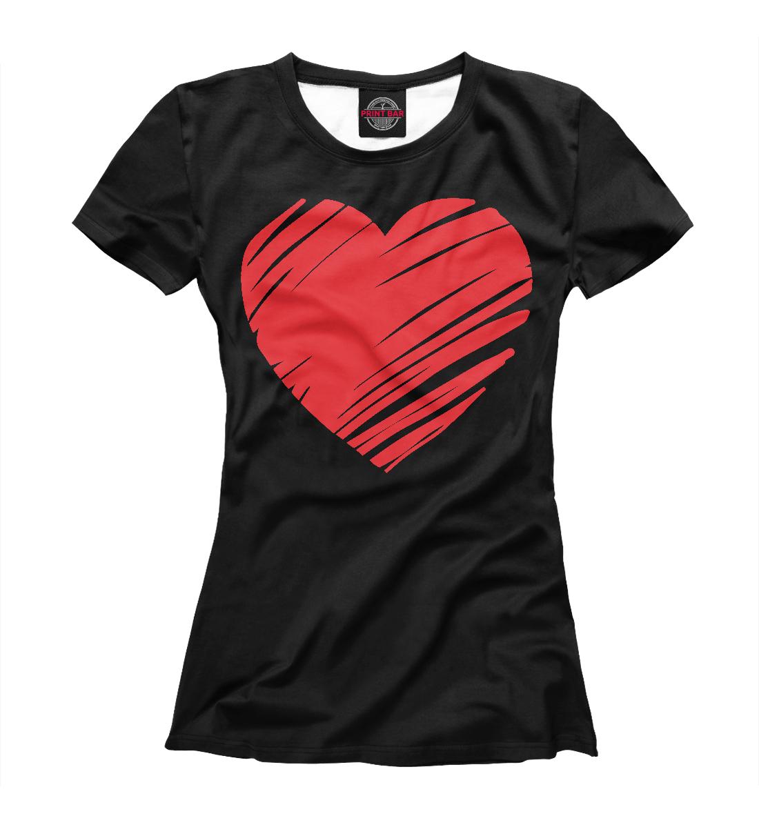 Купить Ленточное сердечко, Printbar, Футболки, 14F-993145-fut-1
