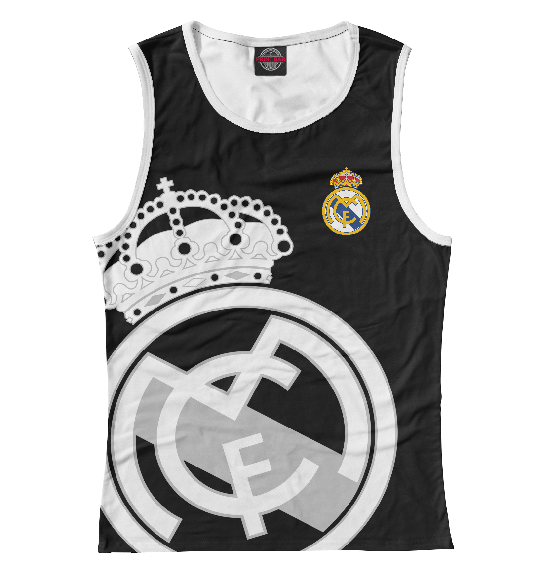 Купить Real Madrid Black&White, Printbar, Майки, REA-604934-may-1