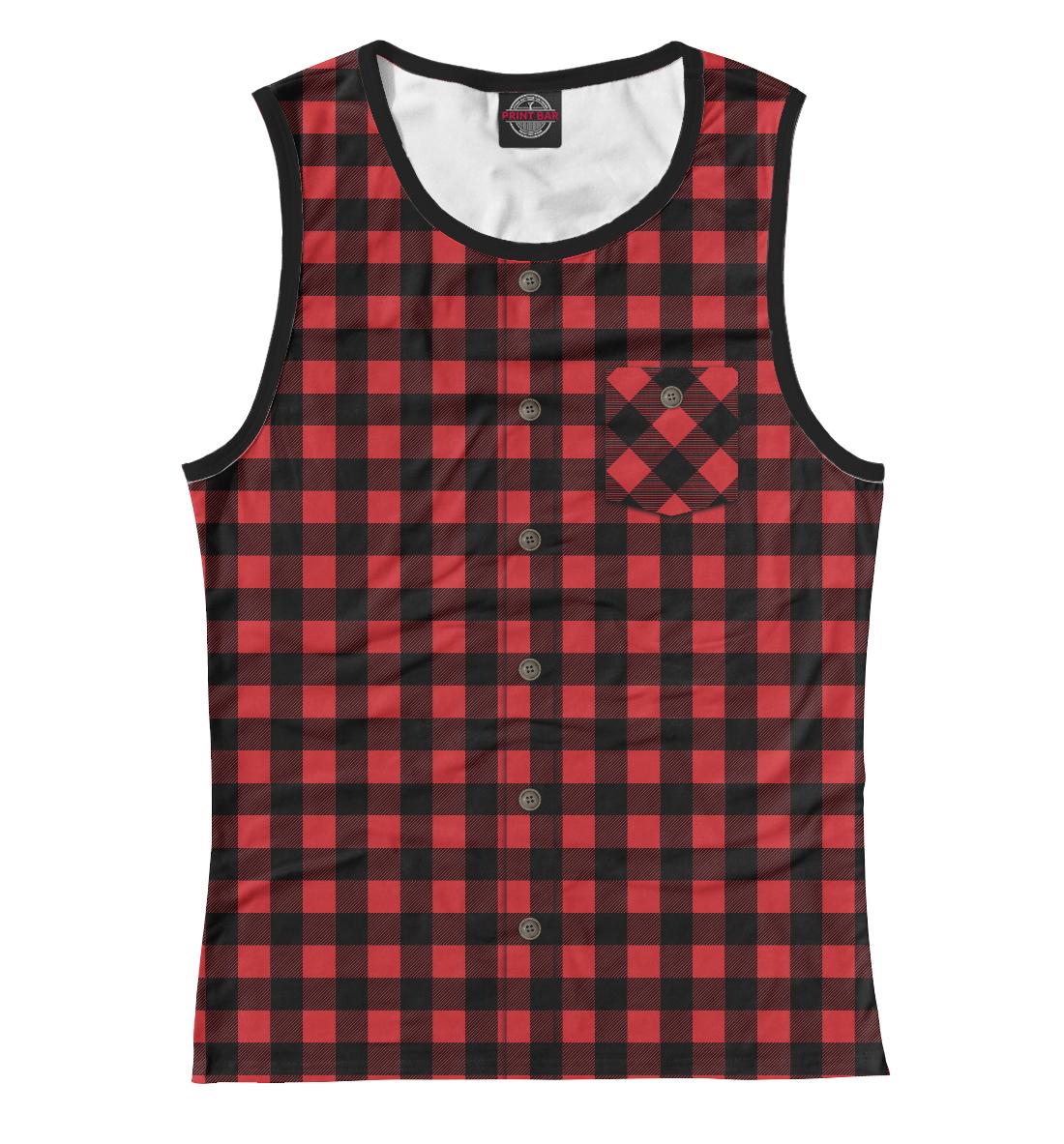 Купить Красная рубашка в клетку, Printbar, Майки, CST-952879-may-1