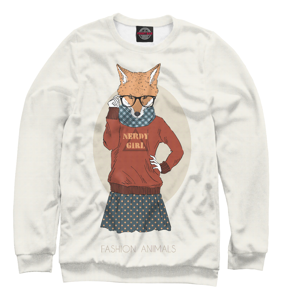 Купить Рыжая модница, Printbar, Свитшоты, FOX-279125-swi-2