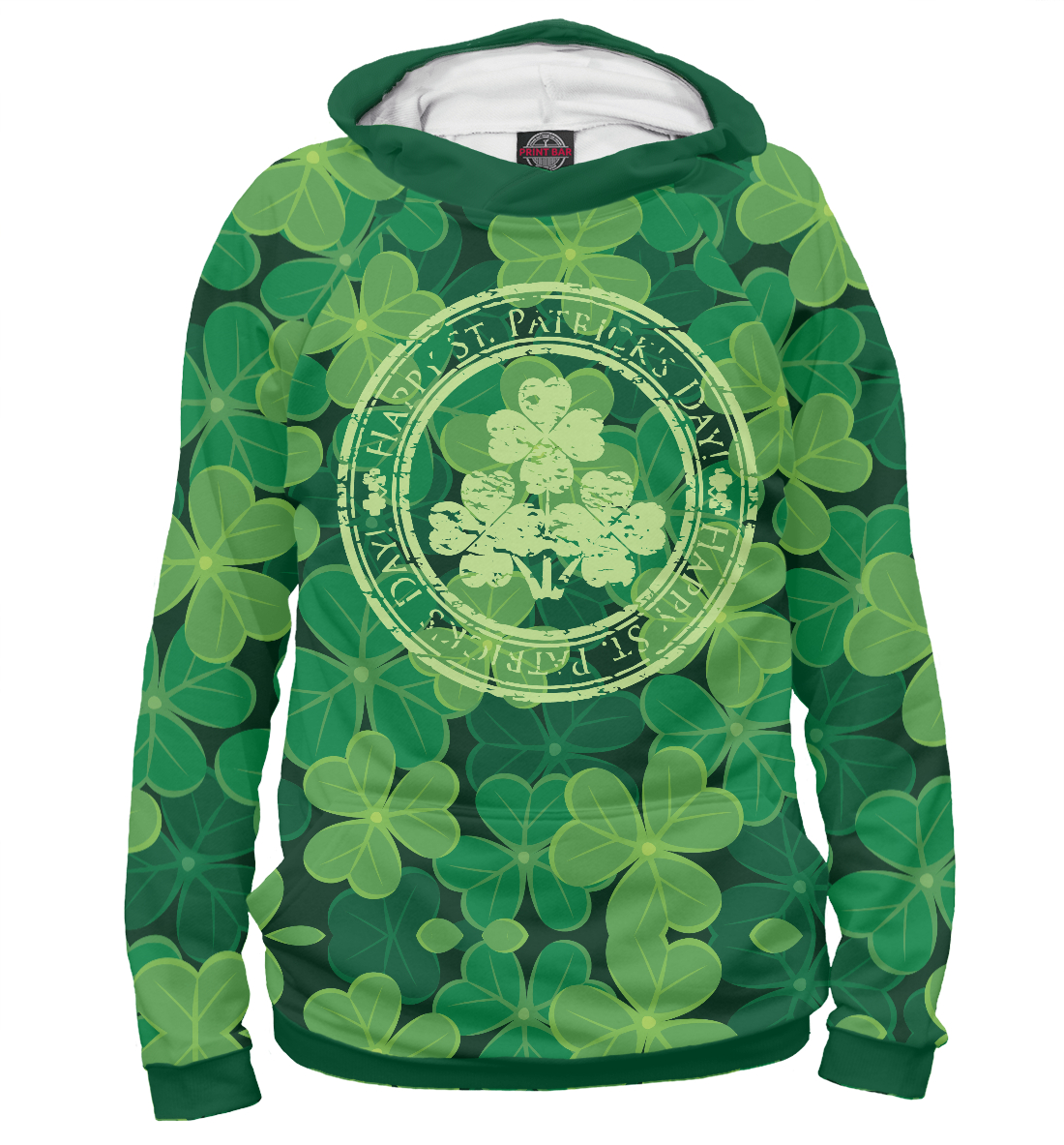 Купить Ireland, Happy St. Patrick's Day, Printbar, Худи, CTS-363440-hud-2