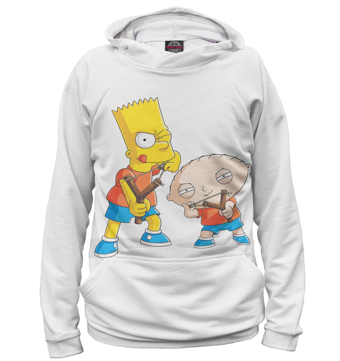 Купить Барт и Стьюи, Printbar, Худи, FAM-509856-hud-1
