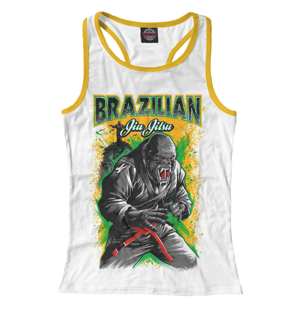 Купить Brazilian Jiu-Jitsu, Printbar, Майки борцовки, EDI-706602-mayb-1