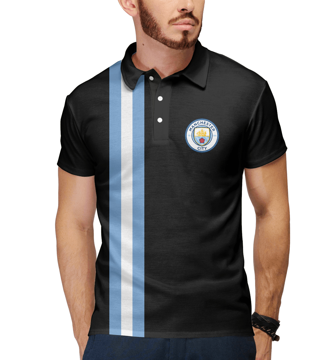 Купить Manchester City Line Collection, Printbar, Поло, MNC-900517-pol-2