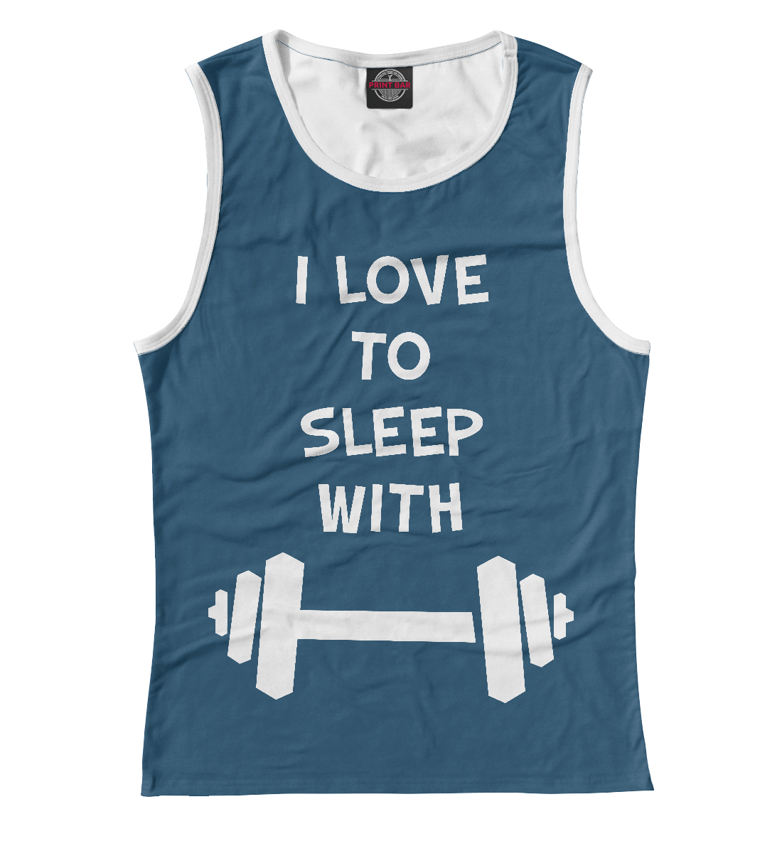 Купить I love to sleep with Dumbbells, Printbar, Майки, FIT-525897-may-1