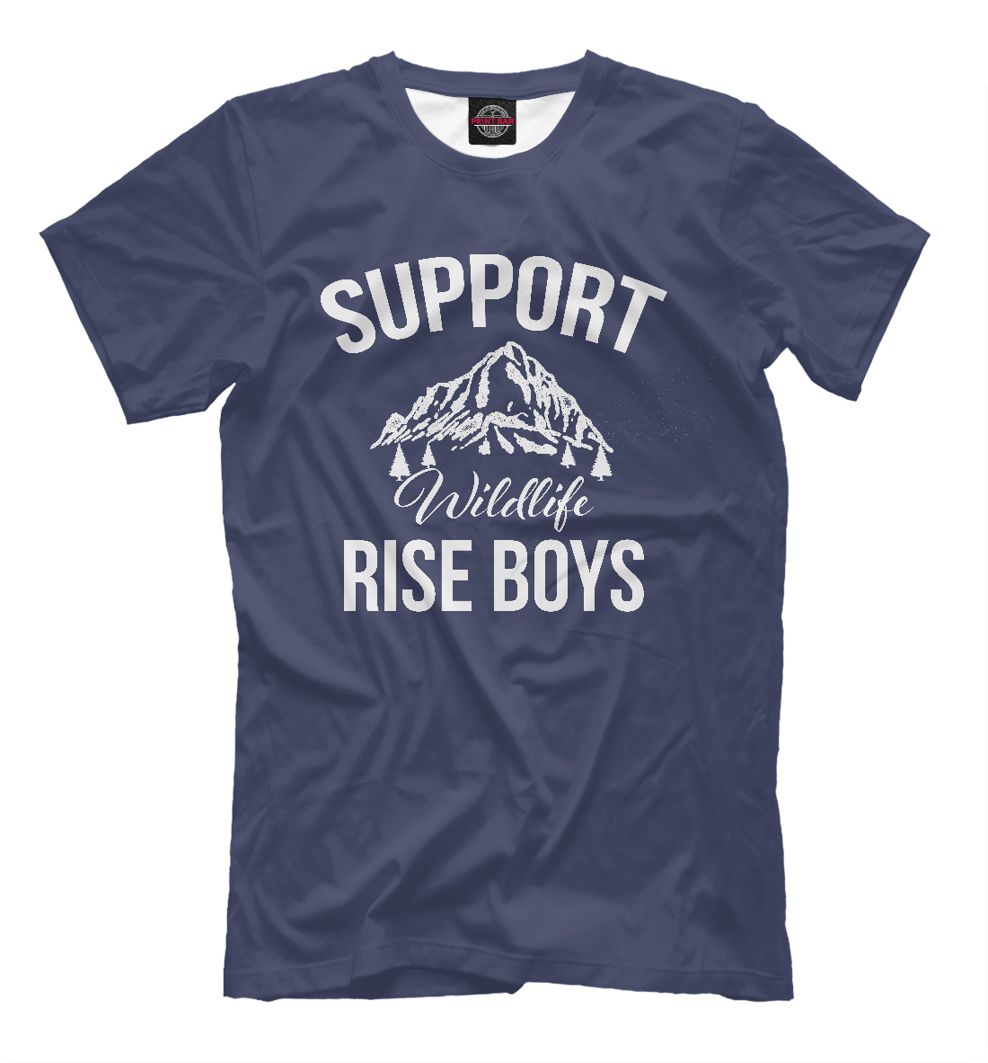 Купить Support Wildlife Rise Boys, Printbar, Футболки, APD-419784-fut-2