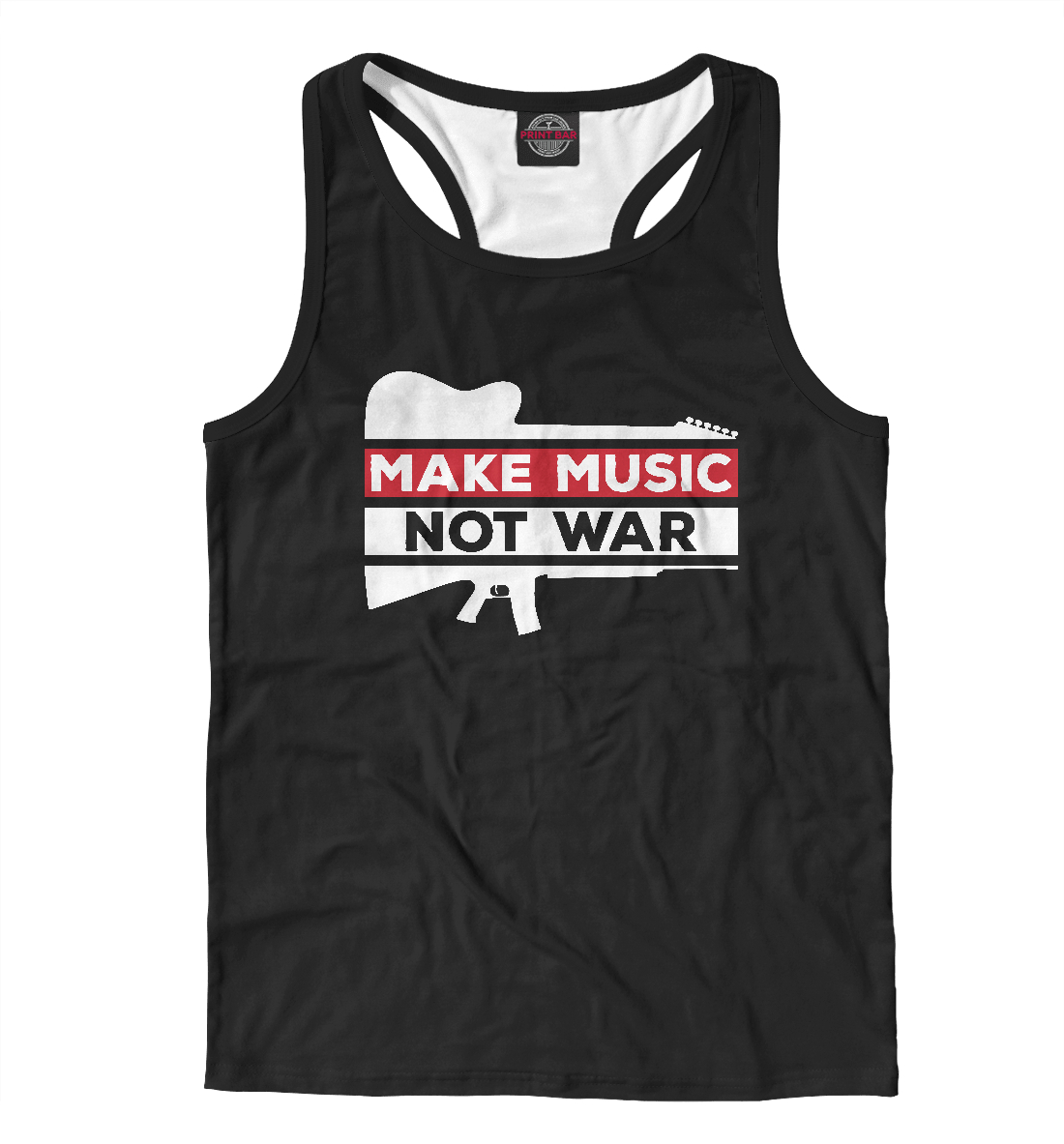 Купить Make Music not war, Printbar, Майки борцовки, MZK-815068-mayb-2