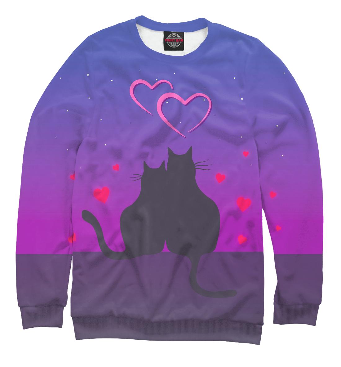 Купить Cat's desire. Парные футболки., Printbar, Свитшоты, 14F-763648-swi-2